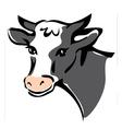 smiling cow portrait vector image vector image
