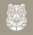 bear totem mask vector image