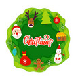 christmas paper cut concept vector image