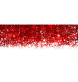Christmas red background with snow vector image