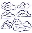 clouds collection sketch cartoon vector image