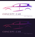 concept car silhouette vector image