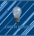 earth hour energy saving vector image