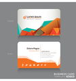 Modern Abstract Business cards Design Template vector image