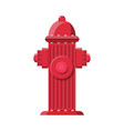red fire hydrant fire equipment vector image
