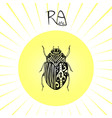 scarab beetle tattoo art can be used for t-shirt vector image