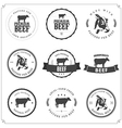 Set of premium beef labels and badges vector image