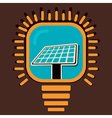solar panel icon in bulb concept vector image