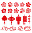 traditional chinese and japanese decorative design vector image