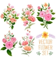 Watercolor Vintage bunch of flower vector image