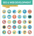 SEO WEB DEVELOPMENT vector image