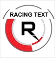 Racing emblem with a place for text vector image vector image