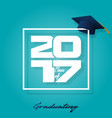 lettering class of 2017 vector image