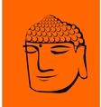 Buddha head vector image