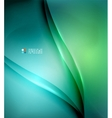 Green and blue blurred design template vector image vector image