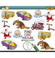 educational kindergarten task vector image
