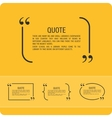 Quote on an orange background vector image