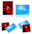 Pictures from vacation vector image vector image