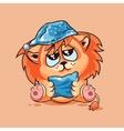 Lion cub drowsy vector image