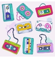Set of retro cassette tapes vector image