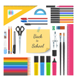 Back to school supplies set vector image