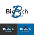 biotech logo letter b logo logo template vector image