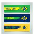 Brazilian design banners vector image