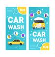 car wash service vertical banner card set vector image