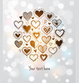 card with doodle sketch hearts and place for your vector image
