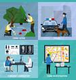 crime investigation flat design concept vector image