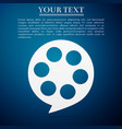 film reel flat icon on blue background vector image