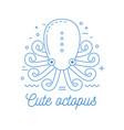 octopus line art logotype vector image