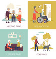 old age people design concept 2x2 vector image