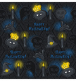 Seamless Pattern with Halloween symbols vector image
