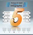 business infographic five icon vector image