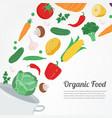 organic food vegetable food icons healthy eating vector image