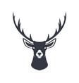 stylized reindeer head vector image
