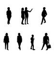 group of people adults and children walking on vector image