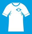 shirt with flag of brazil sign icon white vector image