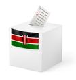 Ballot box with voting paper Kenya vector image