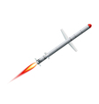 Flying cruise missile on a white background vector image vector image