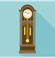 antique grandfather pendulum clock vector image