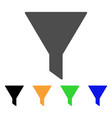 funnel flat icon vector image