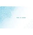 Molecular structure scientific horizontal template vector image