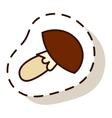 Mushroom on white background vector image