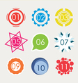 Set of number in variety shape vector image