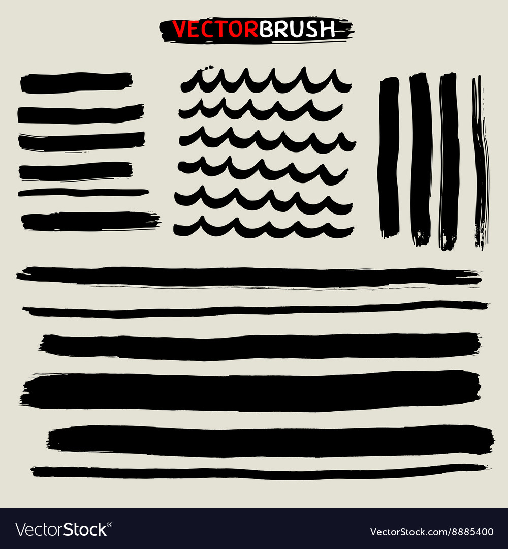 Zen brush set vector