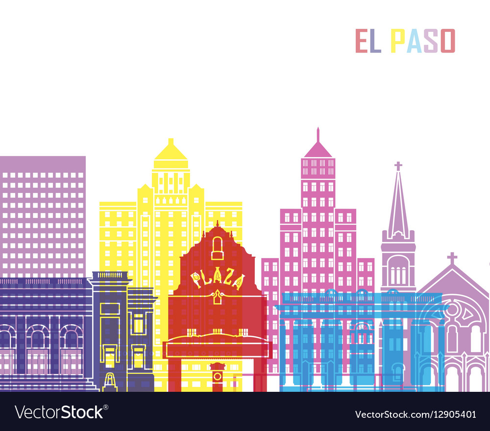 El paso v2 skyline pop vector
