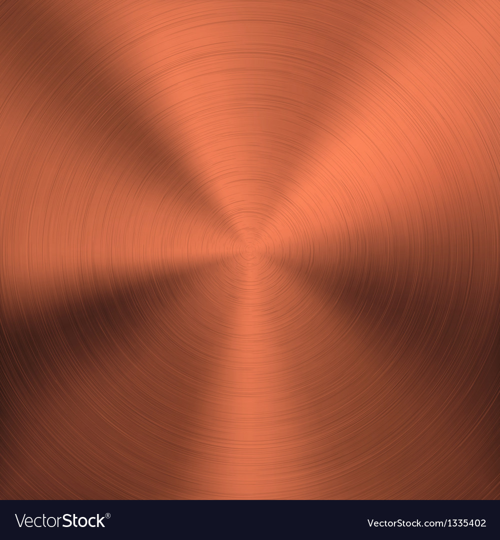 Bronze metal background with circular texture vector