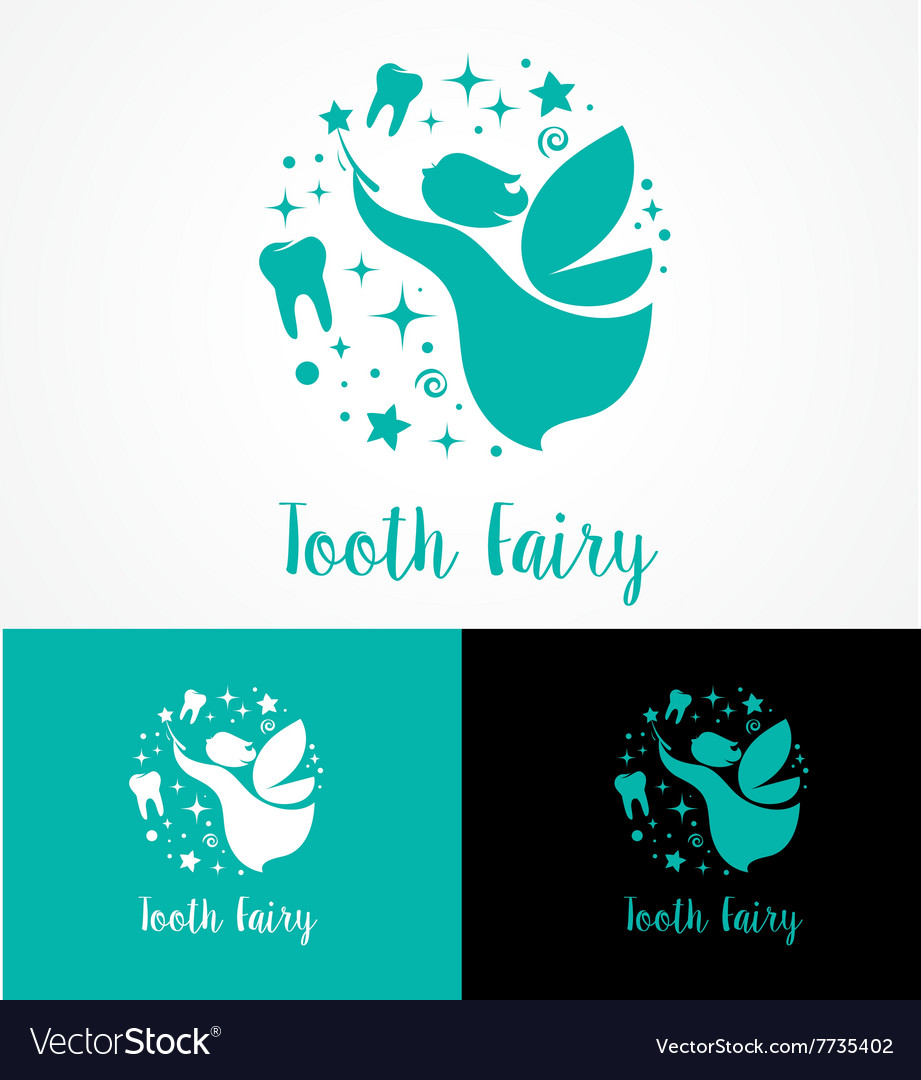Tooth fairy with magic wand  make a wish vector